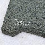 Pavimentadora de goma colorida/azulejo de goma cuadrado/azulejo de goma Desgastar-Resistente