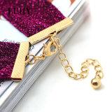 De hete voor-vrouwen van de Ontwerpen van de Nauwsluitende halsketting van de Stof van de Juwelen van de Halsband van de Nauwsluitende halsketting van de Manier Purpere