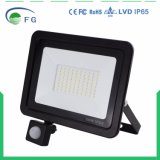 IP65 2years im Freien 50W PIR LED Flut-Licht des Garantie-Bewegungs-Fühler-