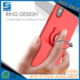 Tampa da caixa do telefone da cinta de Kickstand do anel do gato de Bling Giltter para o iPhone X