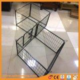 Canil resistente da pena do jogo do metal do gato do cão de animal de estimação da gaiola