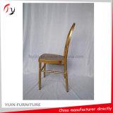 Mobília dourada clássica do assento do banquete do lazer do aluguer do jantar salão do partido (AT-311)