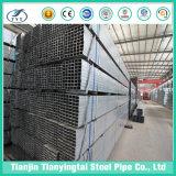 Cuadrado/tubo de acero rectangular/sección hueco Galvanzied/recocido negro de los tubos
