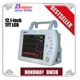 Phisiological Function Monitoring Equipment, Portable Patient Monitor with ECG, NIBP, SpO2, Temperature and Pulse Rate