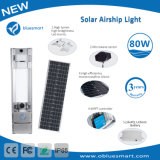 os produtos 80W solares completos/integraram a iluminação de rua ao ar livre do jardim do diodo emissor de luz em lâmpadas solares