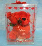 Caja plástica del cilindro del PVC para la decoración del regalo de la Navidad