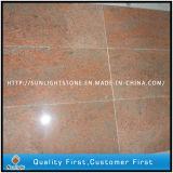 India Losas de granito rojo multicolor para encimeras / piedra sepulcral / baldosas de piso