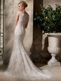 2016 de Nieuwe Kleding van het Huwelijk van het Kant van de Koker van de Toga GLB van de Meermin van de Ruche van de Manier Bruids