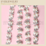 Cadena de cristal de perlas y cristal Rhinestone