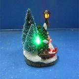 Scène van het Koor van Kerstmis Decoration4 van de hars de '' geleide met Kerstboom en Lamp