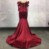 Qualitäts-Satin-Abend-Abschlussball-Kleid-Kleid 1636