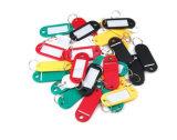 Plastikschlüsselkette AcrylschlüsselChan transparente Schlüsselketten-fördernde Felder für Markierungs-Kennsatz