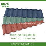 Azulejo de acero revestido de piedra de varios colores (tipo de Milano)