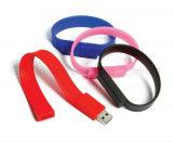 Buntes Armband USB-Blitz-Laufwerk mit Ihrem eigenen Firmenzeichen-oder Text-Drucken