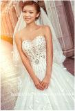 Kristallbrautballkleid-kundenspezifisches Blumenblatt-Blumen-Hochzeits-Kleid Lb17801