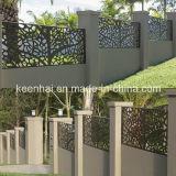 Découpe laser Sculpture clôture en aluminium panneau perforé