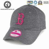 Gorra de béisbol de la tela cruzada del algodón de la alta calidad con el Rhinestone