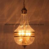 Runde hängende Glaslampe mit elegantem Lacer Ausschnitt (WHG-898)