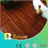 pavimentazione laminata fonoassorbente della noce dello specchio di 12.3mm E1 HDF