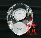 De Klok van het Glas van het kristal van de Herinnering van de Gunst van het Huwelijk van de Presse-papier