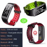 Imperméable IP68 Smart Bracelet avec Bluetooth 4.0 Q8