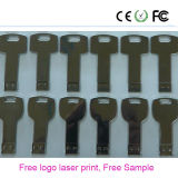 2017 Popular Gift Key Shape Logo d'impression laser gratuit USB Flash Drive (YS)