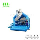 子供のためのスライドとコンボ雪および氷のスノーマンの簡単で膨脹可能な警備員