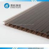 Cristal en bronze/galette en plastique brillante de toit de cavité de polycarbonate
