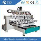 Máquina de trabalho de madeira do router do CNC de 4 cabeças da linha central 8