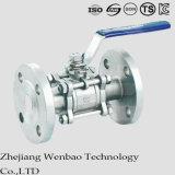 GB em aço inoxidável Flangeado Manul Válvula de Esfera flutuante para a indústria