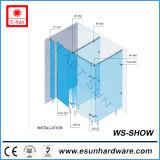 Cubicolo di vetro popolare della toletta dell'acciaio inossidabile 2016, divisorio della toletta (WS-SHOW)