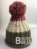 As mulheres quente POM personalizado Hat de malha de Inverno Beanie Hat