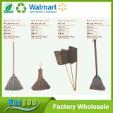 Atacado Custom Short and Long Handle Natural Palm Bamboo Broom
