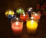 Houder van de Kaars van het Glas van de Kleur van China de Natuurlijke voor Aromatherapy