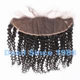 Закрытие шнурка китайских волос девственницы курчавое