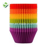 Moule à cake en silicone de qualité alimentaire ronde des tasses de muffin en silicone