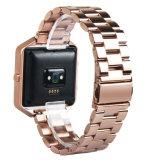 El bastidor de acero inoxidable cubierta de la caja titular de la banda de metal/Fitbit Blaze Reloj inteligente