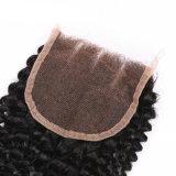 Unprocessed Kinky курчавое выдвижение человеческих волос Remy бразильское с закрытием