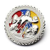 Comercio al por mayor de deportes de recuerdos personalizados de alto rendimiento de la moda chapado en plata, monedas de oro