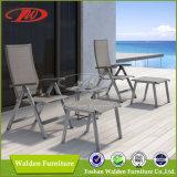 Recliner com assento para pés, cadeiras de dobradura ao ar livre acolhedores do jardim
