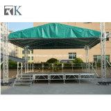 イベントの外パフォーマンスのための軽いトラス機能の段階の屋根