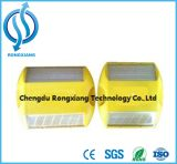 Parafuso prisioneiro reflexivo plástico amarelo ou branco da estrada do pavimento
