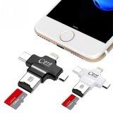 4В1 Ios Тип C Micro-USB OTG TF Micro SD Card Reader для Android 7 для iPhone 6s Se мобильного телефона USB флэш-памяти 16 ГБ