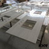 Bancada de superfície contínua acrílica branca da cozinha de Corian