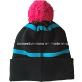 工場農産物は縞のジャカードPOM POM冬のニットのスキー帽子をカスタマイズした