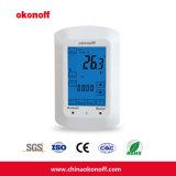 Thermostat entier d'écran tactile de pièce d'affichage à cristaux liquides avec la liaison (TSP750H)