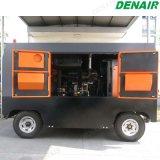 Motor Diesel móvel portátil - brocas de rocha conduzidas da mineração do compressor de ar do parafuso