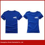 2017 100% T-shirts bleus de modèles simples de coton pour les gosses (R23)