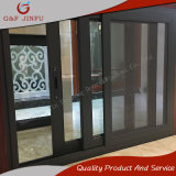 Precios competitivos de alta calidad de la ventana corrediza de aluminio con perfil de color gris