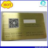 Nouveau Code QR de l'arrivée de la carte d'affaires en métal noir